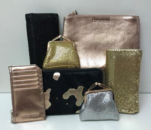 metalic handbags